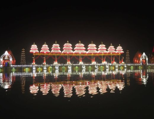 The decked up city of Vijayawada for Pushkaralu